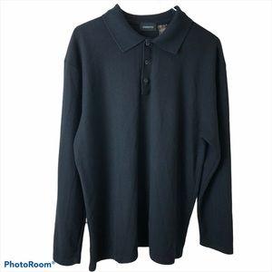 Claiborne Long Sleeve Sweater Lightweight Black